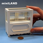 Clearance sale - Shop store Counter unite for 1:12 dollhouse miniature DISPLAY CABINET wood White 3.3