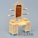 Quality white dresser with hats stand for dollhouse miniature 1:12 scale hand-painted