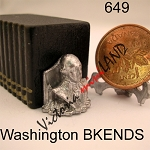 Washington head bookend  unfinished DIY metal miniature for dollhouse - Do it yourself  -2pcs
