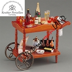 Liquor Serving Cart Display Reutter Porzellan for 1:12 dollhouse miniature