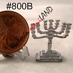 MENORAH unfinished DIY metal miniature for dollhouse - Do it yourself