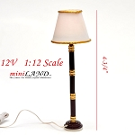 Clearance sale  - Dollhouse Miniature floor Lamp light 1:12 Scale 12v