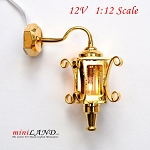 Clearance sale  - Dollhouse Miniature Brass Carriage Lamp Sconce lamp 1:12 Scale 12v
