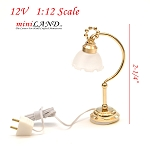 Clearance sale  - Dollhouse Miniature Desk table Lamp light 1:12 Scale 12v