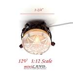 Clearance sale  - Dollhouse Miniature ceiling copper black Lamp light 1:12 Scale 12v