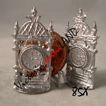 MANTLE CLOCKS 2 pcs unfinished DIY metal miniature for dollhouse - Do it yourself
