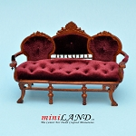 Victorian Sofa Settee for dollhouse miniature  1:12 scale