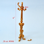 AS IS 0046 - Victorian coats and hats rack stand for dollhouse miniature