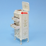 As IS - Eight-drawer collectible Cabinet  for 1:12  dollhouse miniature 0058