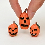Halloween Pumpkins set /3 for 1:12 dollhouse miniature