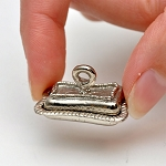 Silver Metal Butter tray for 1:12 dollhouse miniature