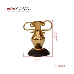 Brass 1:6 scale metal decoration victory cup with wooden base