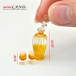 A bottle of alcoholic beverage with two glasses of brandy whiskey 1:12 scale dollhouse miniature  D410