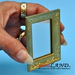 Mirror with gold frame dollhouse miniature 1:12