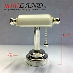 Silver Desk light white shade  LED Super bright with On/off switch for 1:12 scale dollhouse miniature