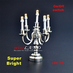 As Is -  Silver Candelabra 5 arms LED - As Is - See product description