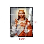 Paper tiles with a portrait of Jesus for 1:12 dollhouse miniature