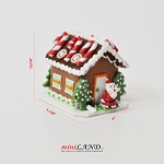 Gingerbread house Christmas 1:12 Scale dollhouse miniature handmade food GBHC10 santa festive ginger bread