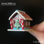 Gingerbread house Christmas 1:12 Scale dollhouse miniature handmade food GBHC2