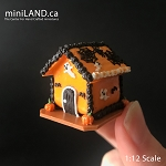 Gingerbread house Halloween 1:12 Scale dollhouse miniature handmade food GBHH2