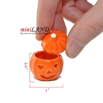 Halloween ceramic pumpkin jar for dollhouse miniature 1:12 scale