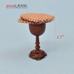 Hand crafted flat cap hat barrett on stand for dollhouse miniature 1:12 scale brown