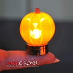 Halloween Pumpkin bright battery LED LAMP 1:12 on/off switch HOP10