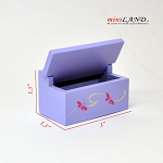 Clearance sale - purple Toy box  for dollhouse miniature 1:12 scale