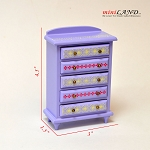 Clearance sale - purple chest of drawers dresser  for dollhouse miniature 1:12 scale
