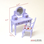Clearance sale - purple dresser and stoll  for dollhouse miniature 1:12 scale