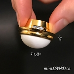 Ceiling lamp round white shade LED Super bright with On/off switch for 1:12 scale dollhouse miniature