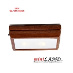 Battery operated LED LAMP Dollhouse miniature light wooden base on/off switch 1:12 scale