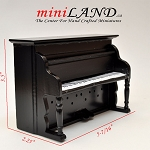 Clearance sale -Piano BLACK for dollhouse miniature 1:12 scale
