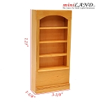 Oak wood 4-Shelf Bookcase Bookshelf for 1:12 dollhouse miniature shelves