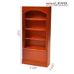 Walnut wood 4-Shelf Bookcase Bookshelf for 1:12 dollhouse miniature shelves