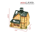 Micro house building for Dollhouse miniature 009