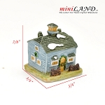 Micro house building for Dollhouse miniature 011