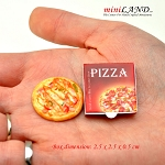 Deluxe Pizza in box for 1:12 Scale dollhouse miniature handmade food PZ8