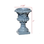 DIY Pedestal Planter Urn -* ready to paint 1:12 scale dollhouse miniature