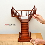 Quality Y Staircase 1:12 Scale Miniature Wooden dollhouse stair WN with rails for 12