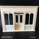Store front facade for miniatures dollhouse roombox 1:12 scale -with working doors