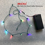 Christmas Tree color Lights string for dollhouse miniature 1:12 scale