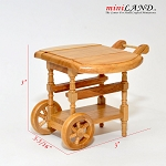 Oak wood tea cart  for 1:12 dollhouse miniature