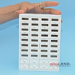 STORE HABERDASHER 40 DRAWER UNIT ART DECO Dollhouse miniature 1:12 scale Walnut WHITE