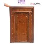 Massive solid wood Door Handmade Excellent quality Medieval for 1:12 dollhouse miniature