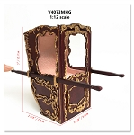 Handcrafted Italian Sedan Chair Litter 19th Century style for 1:12 dollhouse miniatures MH