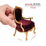 Victorian Gold Armchair for dollhouse miniature 1:12 scale Y4501 VR-G chair