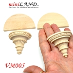 Large Carved wooden corbels brackets with small shelves 2pcs for 1:6 or 1:4 dollhouse miniatures DIY VM005UF