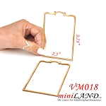 Large Wood Carved frames Onlay Applique Unpainted 2pc for 1:6 or 1:4 dollhouse miniatures VM018UF