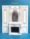 1:6 scale Royal French fireplace panel Top Quality hand crafted of wood
